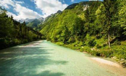 Wandern im Soča-Tal, Slowenien